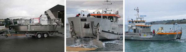 Zuiveringsboten, bestemd voor het reinigen van wateroppervlakten op zee