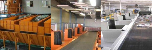 Systemen bestemd voor de automatische selectie van de afvalstoffen en Recycling Installaties - Afdeling stadsrecycling