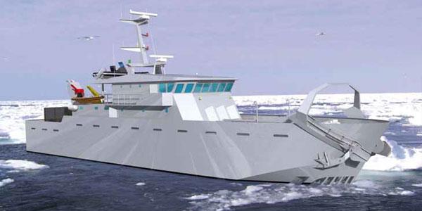 Der Reinigungsschiffe, die für die Reinigung der Oberfläche der Gewässer auf See bestimmt sind - Ausrüstung für die Polarzonen