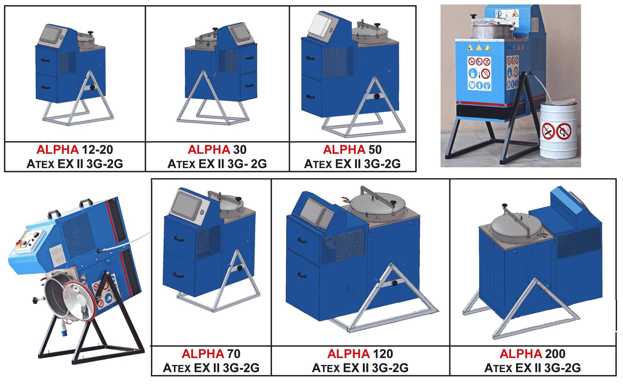 Small range of distillation units